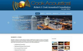Business Website for Acoustical Consultant