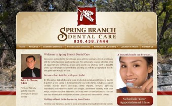 A website for a general dentist in Spring Branch TX