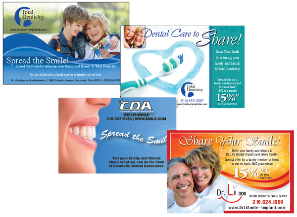 care to share cards for dental practices