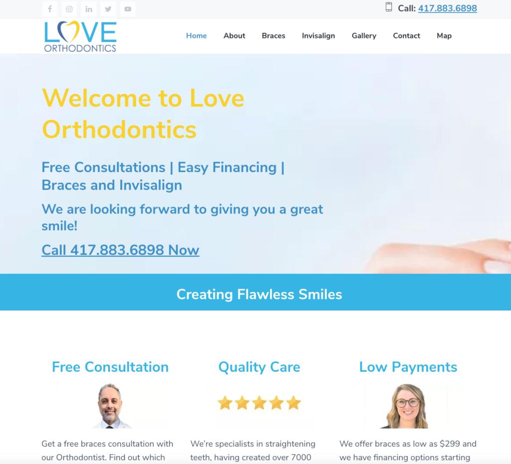 love orthodontics website